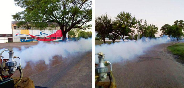 Fumigaciones en diferentes zonas de la ciudad