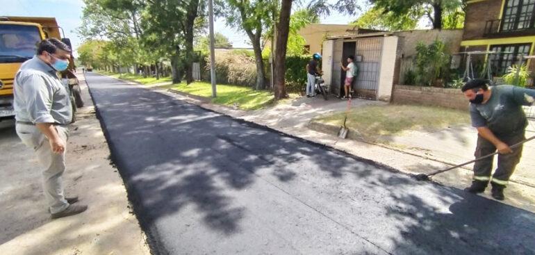 Continúan los operativos de recuperación de calles con carpeta asfáltica en la zona norte de la ciudad